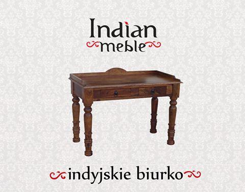 #furniture Wspaniały, ozdobny, ręcznie wykonany #mebel: #biurko z drewna sheesham @ http://bit.ly/1K6peAE