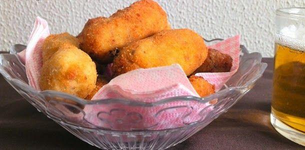 Croquetas de pollo asado y champiñones