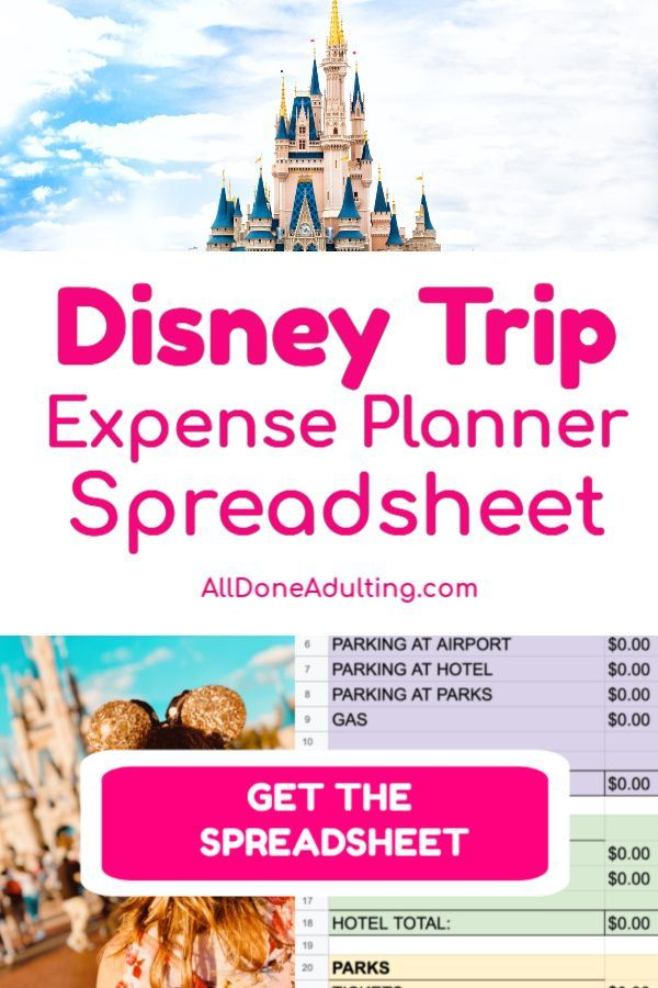 Disney Cost Planner Spreadsheet Disney On A Budget Disney Trip Planning Disney Planner