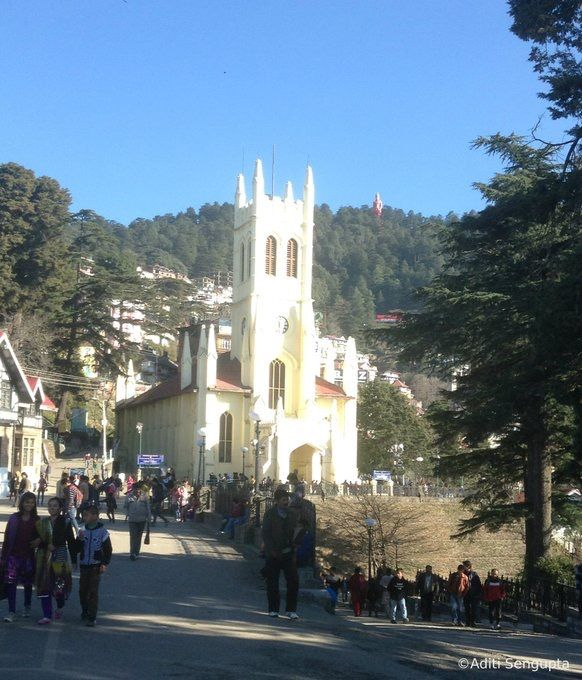 Mall road , Shimla.