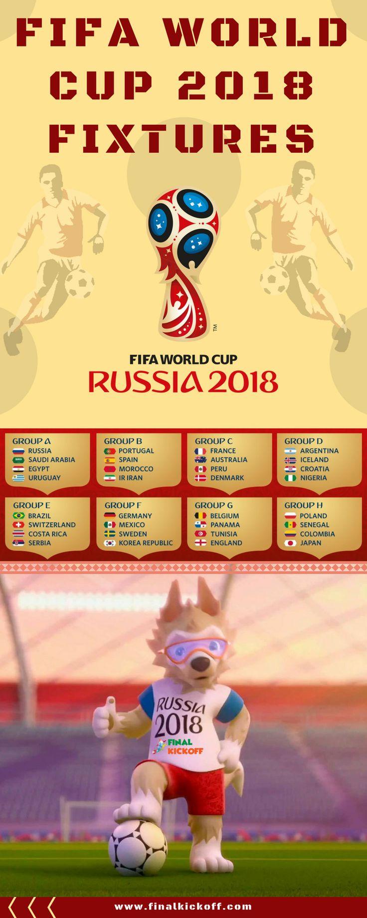 FIFA World Cup 2018 Match Schedule