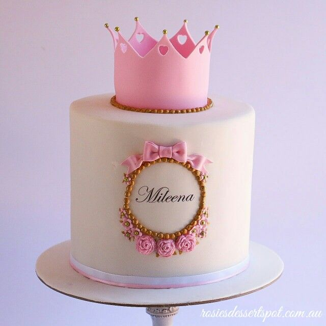 An extra tall cake for a special little princess.