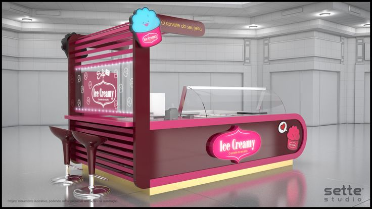 studio sette, quiosque bonito, quiosque sorvete, quiosque para shopping…