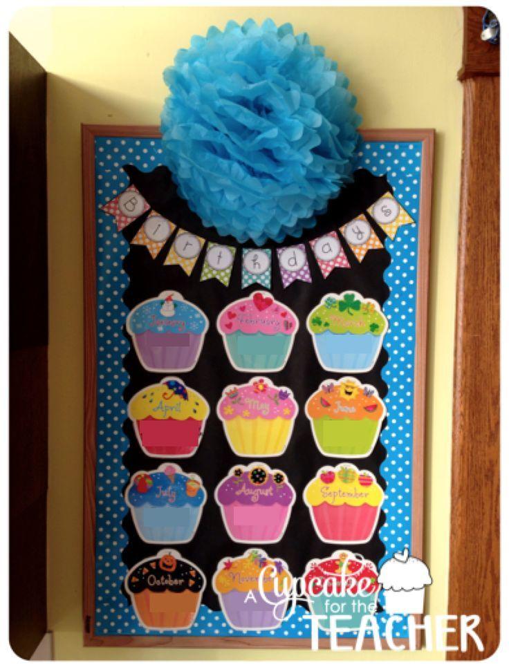 Birthday Bulletin Board from A Cupcake for the Teacher