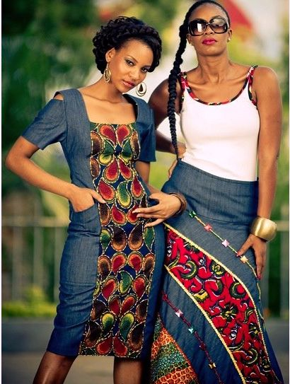 African Prints in Fashion: What I love: Jeans and Prints