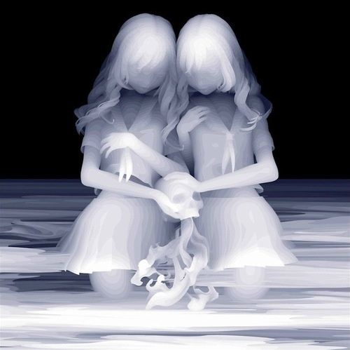 """Monochromatic Paintings Feature Layers of Raw Emotion  By Kazuki Takamatsu    The girls in these paintings have a haunting beauty that seamlessly blends youthful innocence with eerie suggestions of death. In his work, Japanese artist Kazuki Takamatsu makes artwork that explores the emotional aspects of Japanese society. He says, """"My art deals with a fictional form of death…a metaphor for people losing their soul and place in society."""" Via:MyModernMet"""