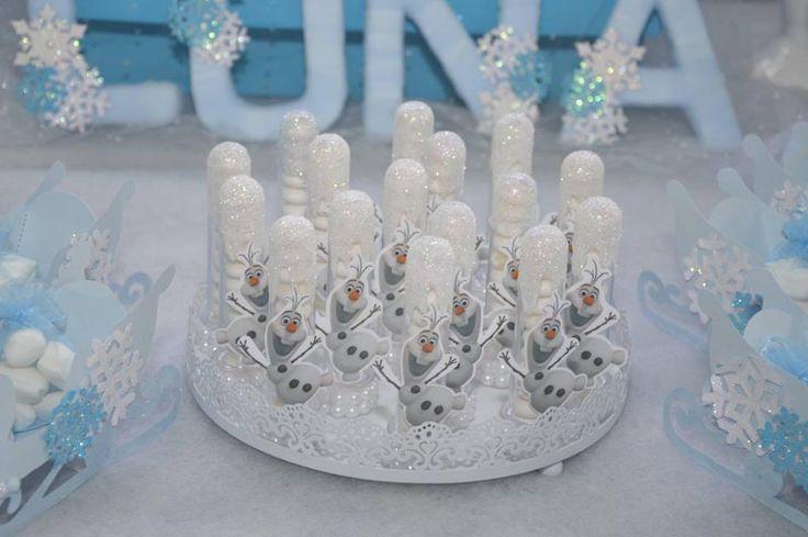 Festa Frozen Criativa - Tubetes Olaf