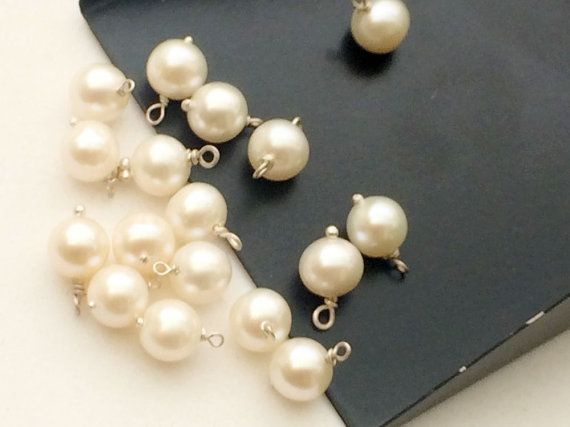 10 Pcs Pearl Round Beads Wire Wrapped Gemstone by gemsforjewels