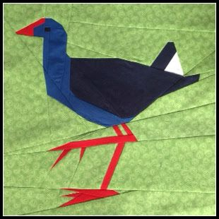 Pukeko paper pieced pattern