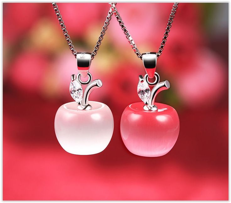 Zundiao - Sterling Silver Jeweled Apple Pendant