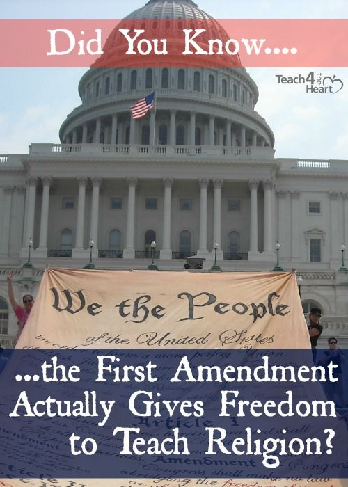 What the First Amendment Really Says About Religion in the Government | Teach 4 the Heart