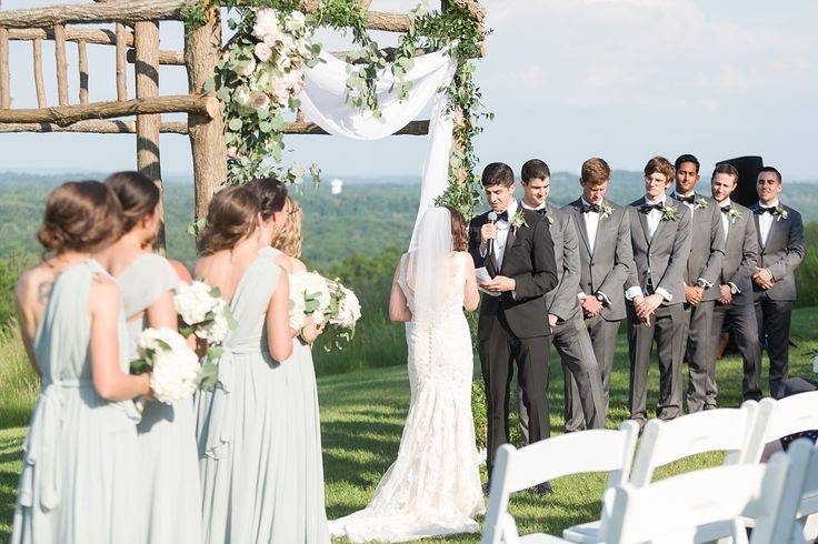 New York Hudson Valley Vineyard Wedding Photos by Jessica Haley | Jenny Yoo Bridesmaids Dress