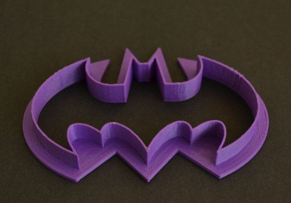 3D Printed Batman Cookie Cutter by RivetsWorkshop on Etsy, $4.00