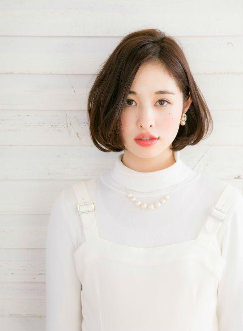 耳かけ 前髪なしボブ 【drive for garden】 http://beautynavi.woman.excite.co.jp/salon/21107?pint ≪ #bobhair #bobstyle #hairstyle  #bobhairstyle・ボブ・ヘアスタイル・髪型・髪形≫