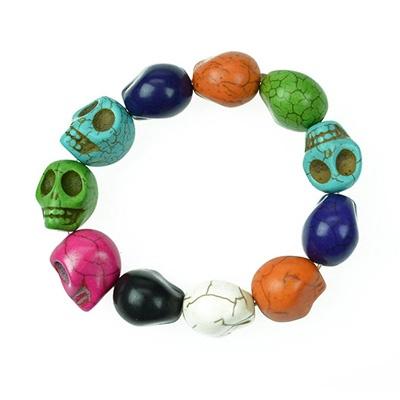 Skulls bracelet  http://www.attitudeholland.nl/haar/accessoires/sieraden/armbanden/skull-bracelet-multi/