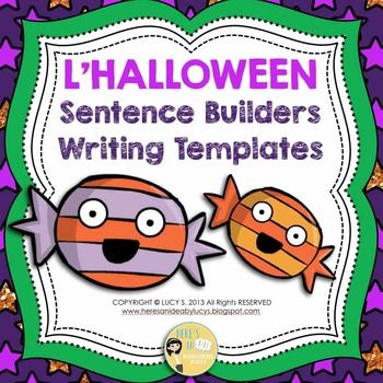 French Halloween Sentence Builders + Writing Templates