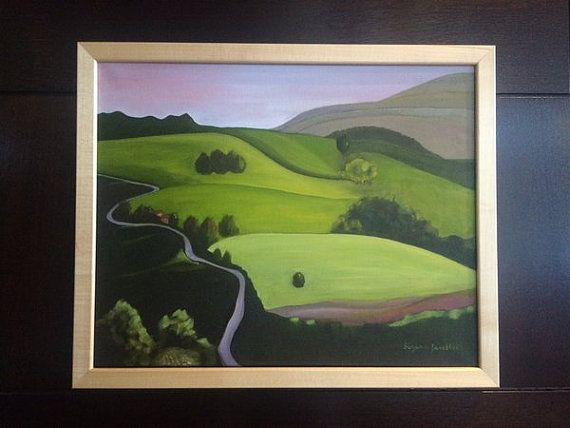 Original Landscape Oil Painting  Rolling Hills Country Side