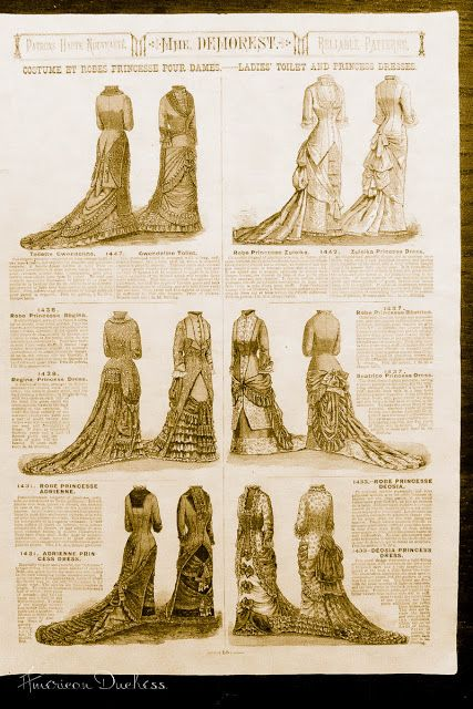 Blog post with lots of lovely catalog pictures from 1880....now I want to make that Victorian gown!