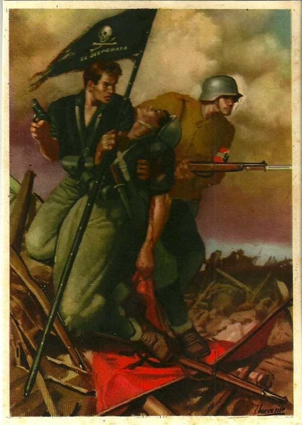 Italian Fascist propaganda poster from World War II.