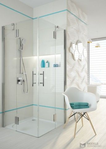 Shower Cabins, Square shower cubicle, Deante