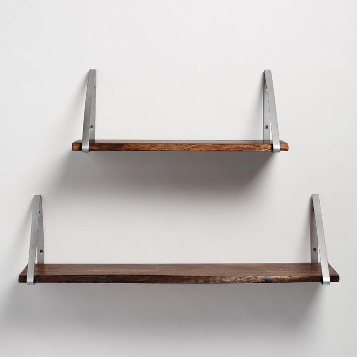 antique zinc metal mix u0026 match shelf brackets set of 2