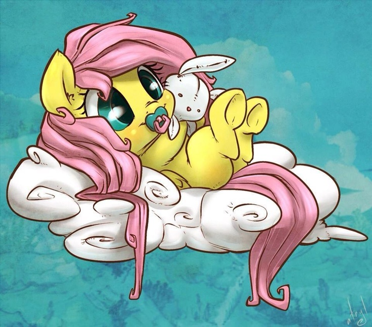 Baby Discord And Fluttershy Baby Fluttershy...