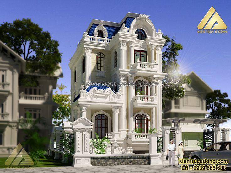 Mẫu biệt thự cổ điển 3 tầng sang trọng