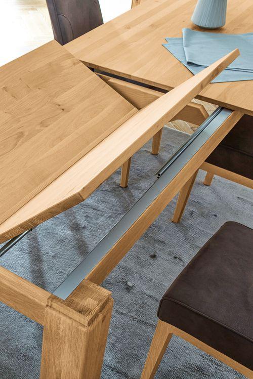 Mit dem praktischen Klappauszug bietet der Esstisch von Global Faro - esstische aus massivholz ideen