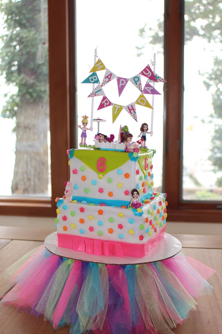 Lego Friends Cake for my little girl who is now 6 years old!
