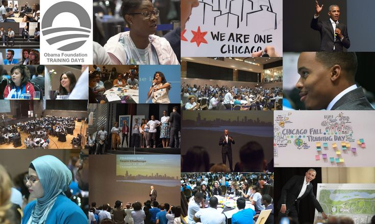OBAMA FOUNDATION TRAINING DAYS for young future leaders are coming to cities around the country. Use the link to check out the enthusiasm and excitement at the first pilot training day in Chi-Town on 10/14/17. Next up, Tempe, AZ on 11/11/17 and Boston, MA on 11/18/17!