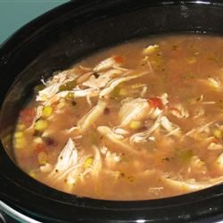 Six Can Chicken Tortilla Soup recipe - I make this all the time, but instead of canned chicken, I use a store-bought roasted chicken. Wonderful and soooo easy!