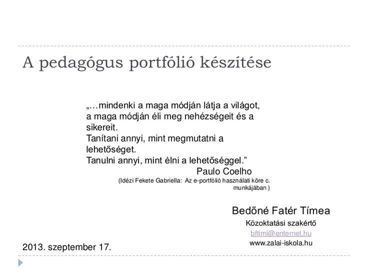 Pedagogus portfolio