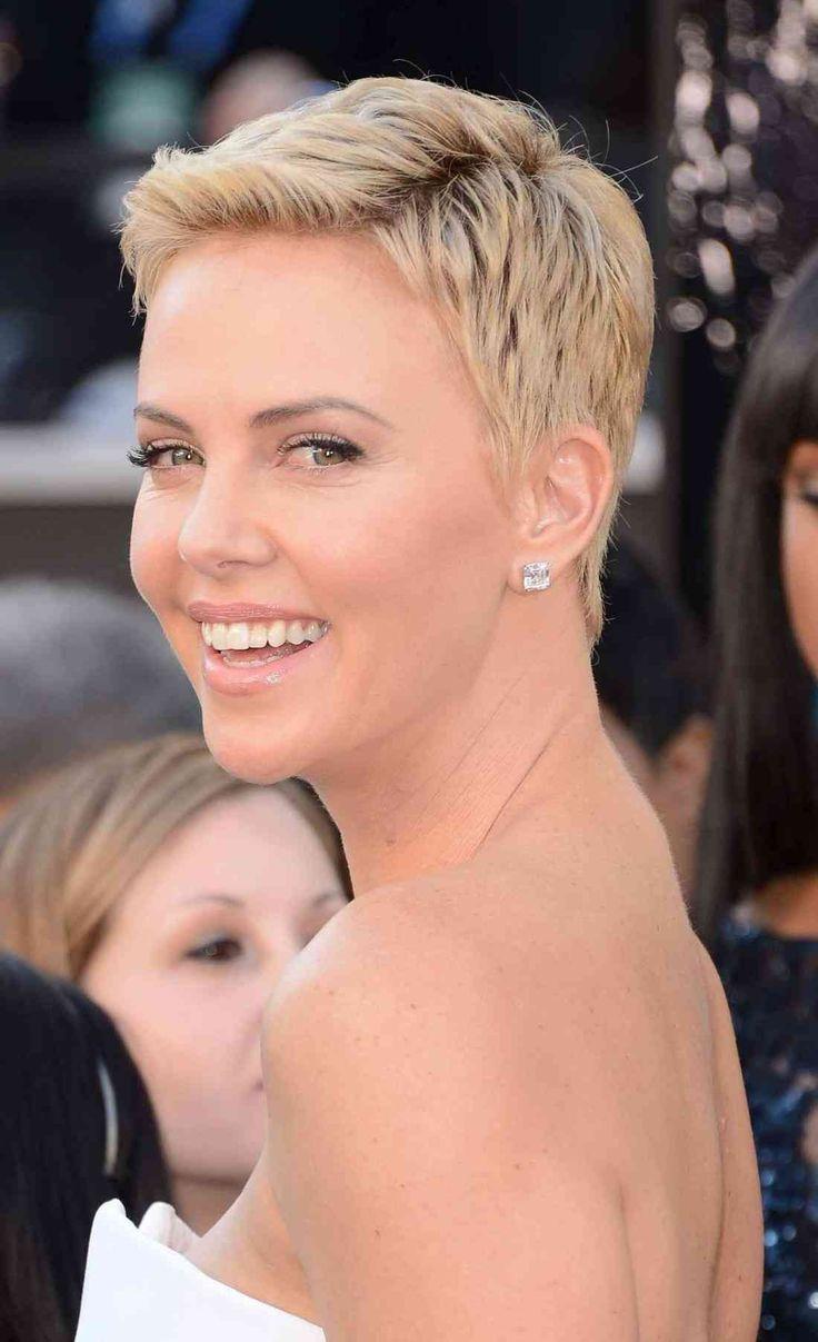 kurze kurze Frisuren für Frauen mit runden Gesichtern und