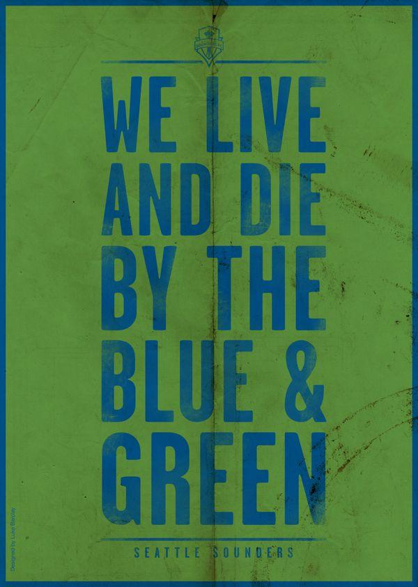 MLS Poster Series by Luke Barclay: Seattle Sounders