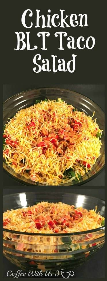 Chicken BLT Taco Salad.  A delicious and filling salad recipe.