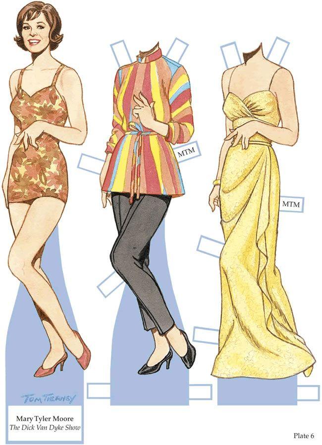 Mary Tyler Moore paper dolls | Bonecas de Papel: Atores e atrizes de Hollywood