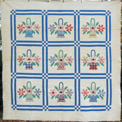 121 best basket quilts images on Pinterest   Quilt blocks, Basket ... : basket quilts - Adamdwight.com
