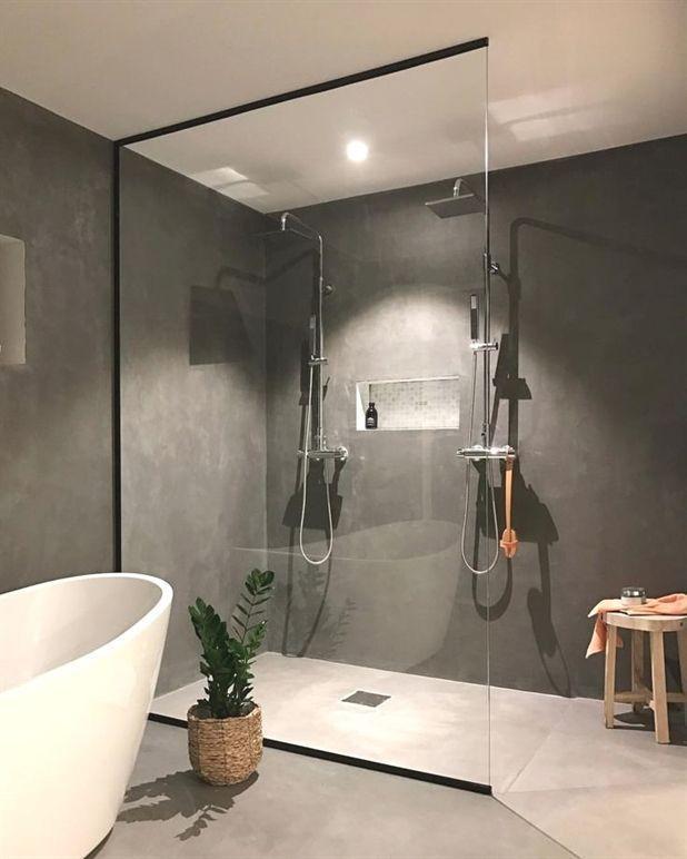 Wunderbare skandinavische Ideen für das Badezimmerdesign 43