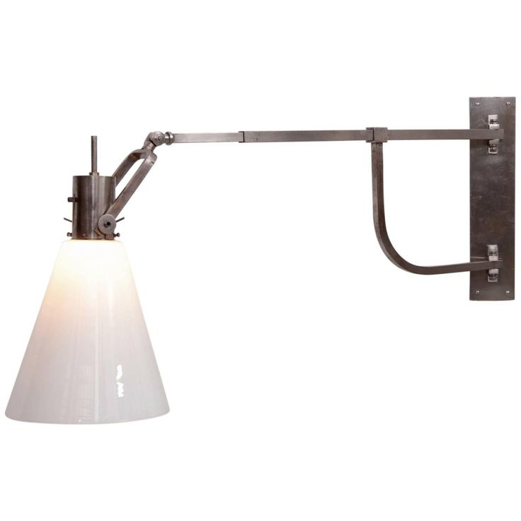 Rare 1920s Bauhaus Wall Sconce Lamp by Max Schumacher for Schröder Lobenstein