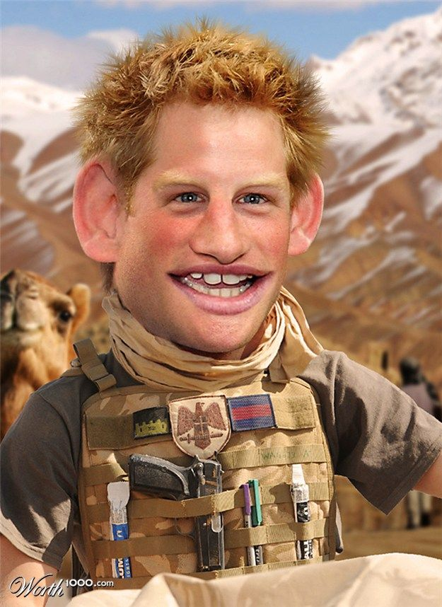Prince Harry (caricature)  (ROYALTY) http://dunway.us