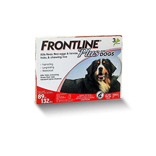 Merial Frontline Plus for Dogs, 89-132 Lb, 3 Doses *** Want to know more, click on the image.