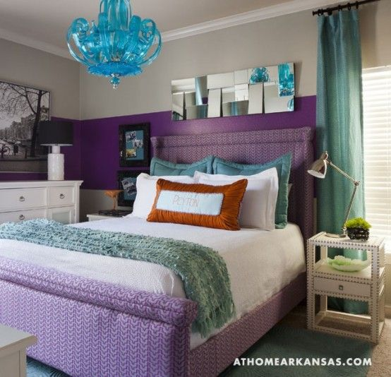 violet and magenta bedroom | Purple Accents In Bedrooms – 51 Stylish Ideas | DigsDigs