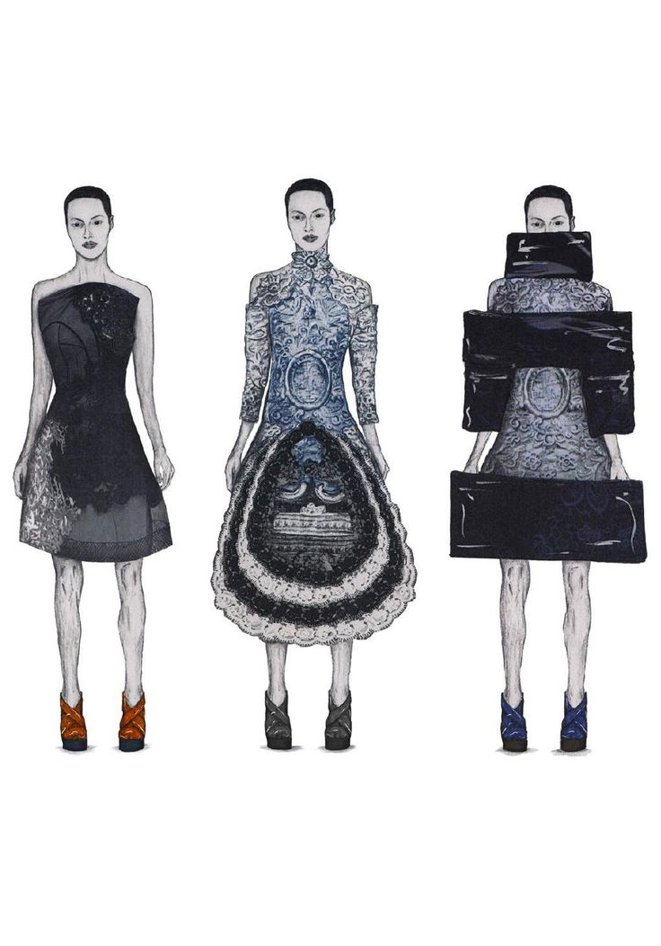Fashion Sketchbook - fashion illustrations for graduate collection; fashion portfolio // Sam Towner