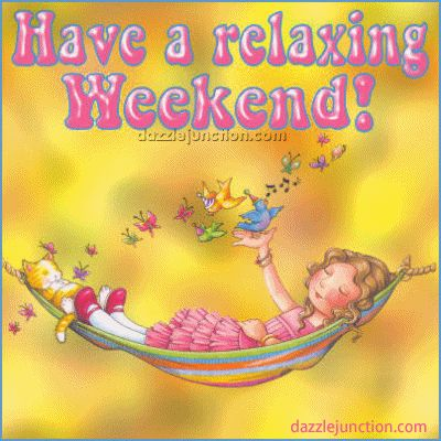 Weekend quote - Have a relaxing weekend - Mary Engelbreit
