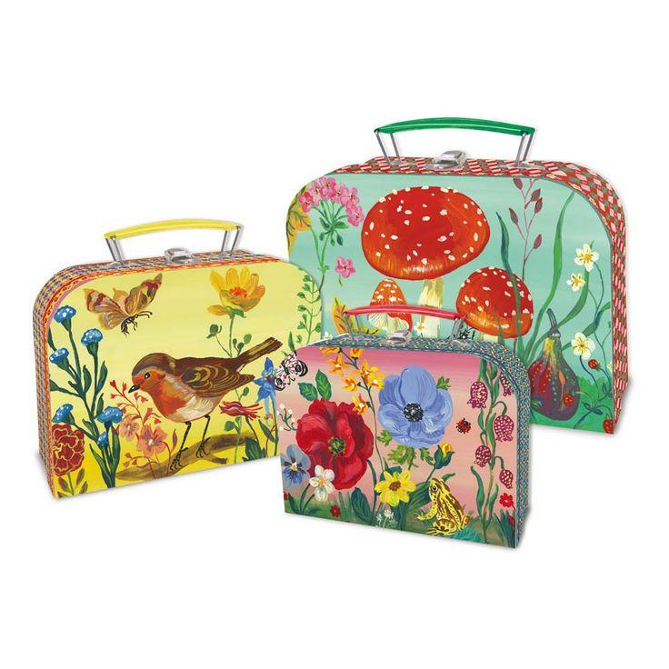 3 Koffer Set Nathalie Lété Vilac Kind- Große Auswahl an Design auf Smallable, dem Family Concept Store – Über 600Marken.