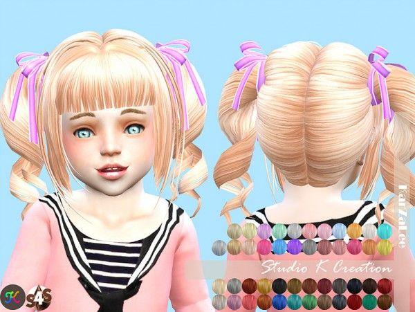 Studio K Creation: Animate hair 23 momo • Sims 4 Downloads