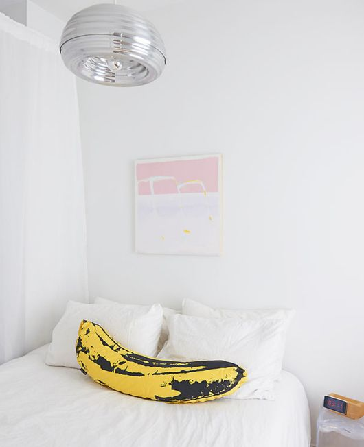 Chad Phillips's Andy Warhol banana cushion by Medicom.   http://www.switchedonart.com/2012/01/medicom-andy-warhol-banana-cushion.html