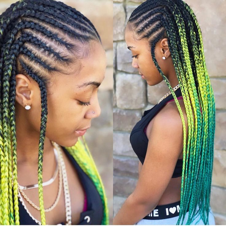 Ombr 233 Tribal Braids L E M O N 🍋 L I M E Hairinspo Shop