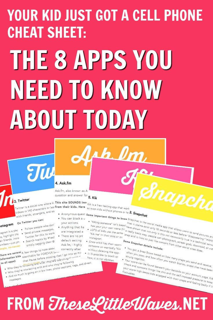 There is a lot to learn about apps kids use. First, there are so many of them and second, our kids are so savvy about the apps they use, it's hard to keep up! This is a great place to start. it is a super detailed checklist of eight apps that kids are using today including what's good about them and what's bad or to watch out for with them. This is so important and I like having it all in one place!