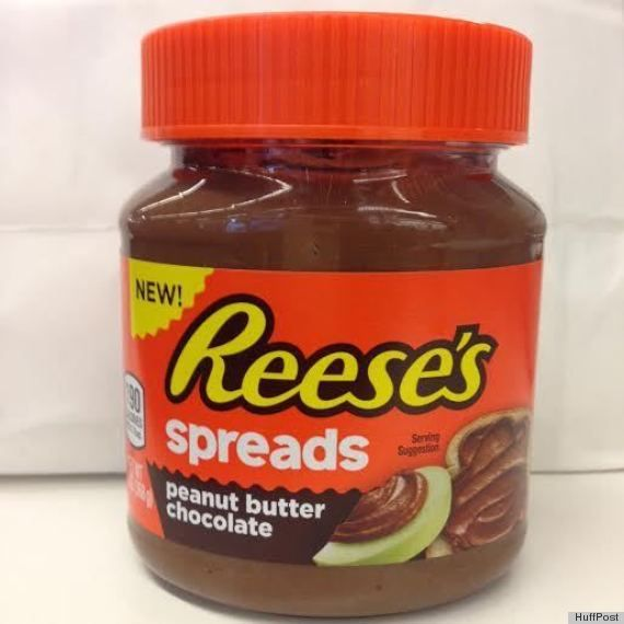 Reese's peanut butter chocolate spread in a jar?  Oh my...   http://www.huffingtonpost.com/2014/11/06/reeses-spread-holy-crap_n_6115322.html #ReesesSpreads #Contest